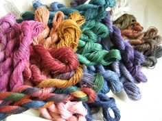 Luscious yarns.  I wish I had more time to devote to knitting!