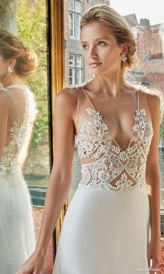 bridal gown with exquisite hand embellished sheer illusion straps