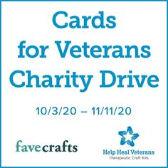 We're hosting a Cards for Veterans charity drive! Learn how you can send a handmade card to a healing veteran by visiting FaveCrafts.com. Craft Kits, Craft Projects, Craft Ideas, Diy Ideas, New Crafts, Holiday Crafts, Recycled Paper Crafts, Popular Crafts, Craft Stash