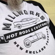 Wearing a new awesome @millworkshotrod shirt today. I plan on stopping to see Chris when I am on my #48cars48states trip this fall.