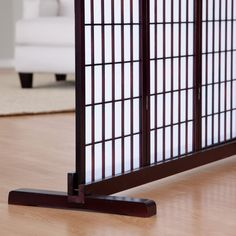 Shoji Room Divider Stand - The Shoji Room Divider Stand is a great way to maximize usage of a double layer of rice paper shoji screen. This solid cedar wood stand is designed to...