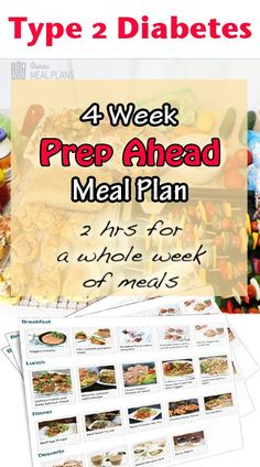 4 week 'Prep Ahead' Ready-Made meal plan - make your low carb diabetic eating plan easy with this nutritionist designed easy tasty meal plan.                                                                                                                                                                                 More