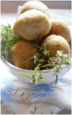 cool chic style confidential: bread balls with tomato sauce