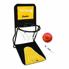 Franklin Sports Fold-N-Go Tailgate Hoops by Franklin. $36.29. Mini basketball with inflating pump. Perfect for quick set-up and take-down in most any location. Chalk court marking kit. Tailgate hoop with net and built in ball return. 1 all purpose tailgate travel/ storage bag. Fold-N-Go Tailgate Hoops is the perfect accompaniment to your party. Whether you are just outside your car in a parking lot, in your own driveway or the local gym looking to entertain siblings, this ...