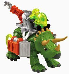 BLOG DOS BRINQUEDOS: Imaginext Triceratops Dino
