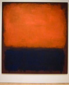 Mark Rothko - grand scale + brazen use of color = intimate absorption