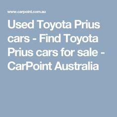 Used Toyota Prius cars - Find Toyota Prius cars for sale - CarPoint Australia