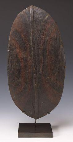 Kikuyu Shield Kenya Late 19th to early 20th century Wood, pigments