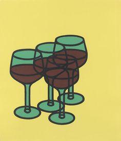 Patrick Caulfield, Wineglasses, 1969