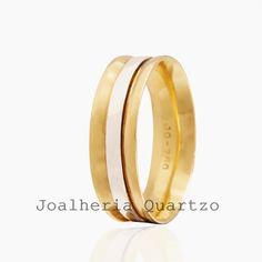 Aliança de casamento Elizane, ouro 18 klts, 12 gramas o par com detalhe em d42a9336b6
