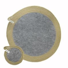Placemats & Coasters Jute & Recycled Plastic Felt (set of 4 each) Recycle Plastic Bottles, Cotton Rope, Oceans, Jute, South Africa, Coasters, Recycling, Felt, Colours