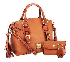Merry Christmas 2013 to me from the Hubby :-)  Dooney & Bourke Pebble Leather Domed Satchel w/Accessories - I love this! Perfection!