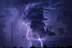 Lightning Storm Tornado - Art Print Poster Wall Decor Home Thunder And Lightning Storm, Purple Lightning, War Thunder, Storm Wallpaper, Nature Wallpaper, Poster Wall, Poster Prints, Art Prints, Backgrounds Free