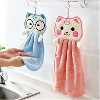 Name: Cute cartoon thickened towel Size: 28 * 47cm Weight: about 35g Material: polyester and nylon P