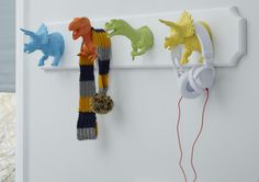 Fun hooks provide a useful place for your kids to hang their coats and clothes…
