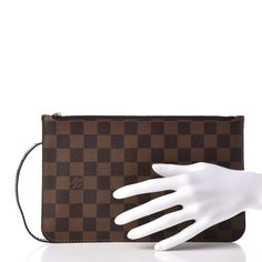 f5b70dd0b745 LOUIS VUITTON Damier Ebene Neverfull MM GM Pochette
