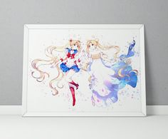 Sailor Moon print Sailor Moon poster Tsukino by ArtsyPrintStudio