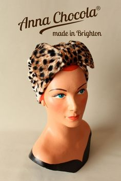 turban with bow | ... the Anna Chocola® Spring 2013 collection of turbans and bow turbans