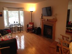 Living room- watch some Netflix, read a book by the fire, or just visit.
