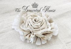 How to Make a Fabric Flower. Rosette Step 1. DIY Tutorial. Step by step instructions from The Decorated House