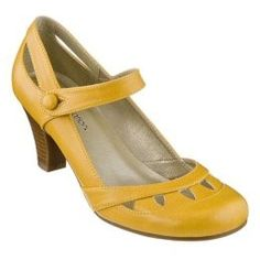Gorgeous! Where is Phnom Penh's 'Beautiful Shoes' when you need them!  (Women's Xhilaration® Sugar Mary Jane Pumps - Yellow : Target)