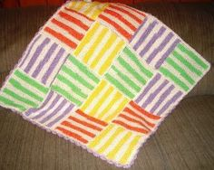 If you want to create and a cute and fun item for baby, then this Happy Stripes Baby Blanket is just what you need! Not only is it full of wonderful texture with a basket weave design and scalloped edges, but it's easy to coordinate for boy or girl.