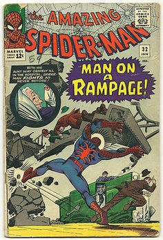 AMAZING SPIDER-MAN #32 Silver Age gem w/ great Ditko cover! ~COOL~ http://r.ebay.com/dxcDYd