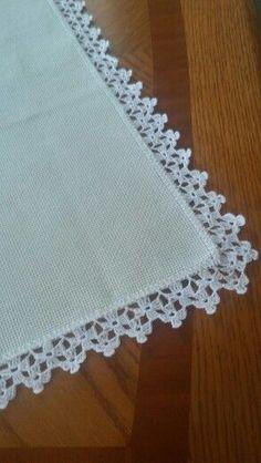 Esma's 360 media content and analytics Crochet Boarders, Crochet Edging Patterns, Crochet Motif, Crochet Doilies, Crochet Flowers, Crochet Lace, Crochet Edgings, Diy Crafts Crochet, Easy Crochet Projects