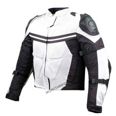 The Pro Mesh Motorcycle Jacket is a great jacket for use all year round, it includes heavy duty armor and it provides extreme value for the money. Sa Pa, White Motorcycle, Motorcycle Jackets, Motorcycle Gear, Leather Jackets For Sale, Mesh Jacket, Riding Jacket, Summer Jacket, Moda Masculina