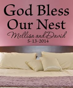Love this 'God Bless Our Nest' Personalized Decal by LolliPOP Walls on #zulily! #zulilyfinds