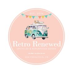 Premade Logo - Van & Bunting Logo Design - Customized with Your Business Name!