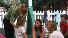 This is a picture of a child's first day at nursery. It shows mom's introducing her with the teacher which shows her that her mom and the teacher's got good relationship between  them and it helps her to feel comfortable and settle in.