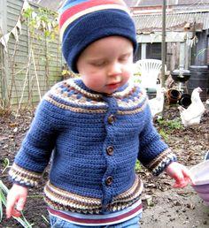 Crochet Pattern for Baby Cardigan Toddler Jacket di thetreebridge