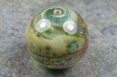Into the Fire Lampwork Art Beads ~Tranquility~ Artist handmade glass focal bead