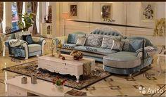 Красивый угловой диван (набор мебели) для гостиной