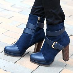 Suede Buckled Ankle Boots from #YesStyle <3 59th Street YesStyle.com