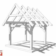 10x12 Post and Beam Shed Plan
