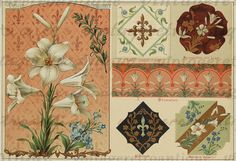 Digital Image Antique Flower Sheet Graphic Floral Design Download Antique Printable Vintage Clip Art. High resolution digital graphic image. This printable digital illustration is great for making prints, transfers, papercrafts, pillows, t-shirts, and much more. For personal or commercial use. This digital image is high quality and high resolution at size 8½ x 11 inches. Transparent background PNG version included.