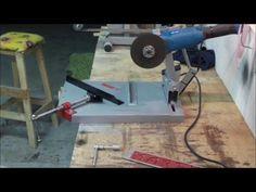 Battuta taglio a 45° per supporto smerigliatrice angolare in ferro fai da te - YouTube