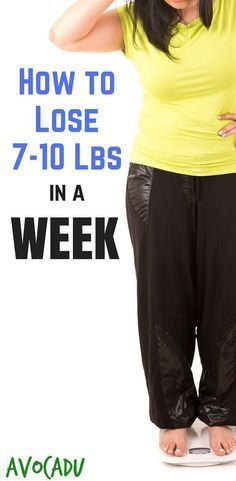 How to Lose 7-10 Pounds in a Week | Lose Weight in a Week | Lose Weight Fast | Weight Loss Tips | http://avocadu.com/lose-7-10-pounds-week/