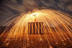 Photo of the Day! Trip Murphy rains fire with a long exposure and steel wool. #GoPro #NightPhoto