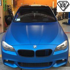Sleek BMW wrap with 3M 1080 Matte Blue Metallic. Thanks Viral Vinyl Werks, vvwoceanside.com.