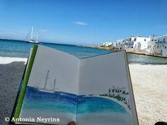 The travel books Antonia Neyrins: Short walk to Naoussa on Paros island in Greece