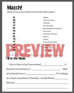 Three Canada-themed worksheets to accompany page two of my Canadian Booklet or use as stand-alones. - Abbreviations and how to address an - Writing Practice: Provinces and Territories of - Province and Territory Town Names, Unit Plan, Addressing Envelopes, Writing Practice, School Lessons, Interactive Notebooks, Reading Comprehension, Math Centers, Social Studies