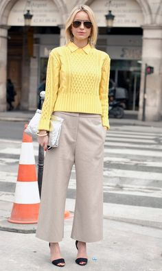yellow simplicity girl street style fashion