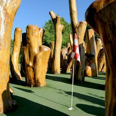 Big Stone Mini Golf, Minnetrista MN. How did I not know about a place having sculptures within the mini golf course?