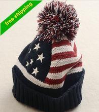 Winter Hat Women 2016 USA American Flag Wool winter warm knitted hats for women Skullies Beanies gorros femme bonnet caps Mens Winter Beanies, Cool Beanies, Warm Winter Hats, Winter Hats For Women, Snapback Caps, Hat For Man, Striped Knit, Beanie Hats, Jeans