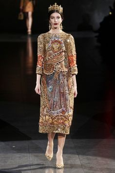 Dolce and Gabbana Fall 2013 - Byzantine Inspired Fashion.  How the heart longs for true beauty...