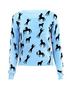 HORSE PATTERN JUMPER
