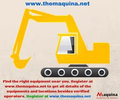 No need to worry about sourcing equipment. Find ones near you at www.themaquina.net